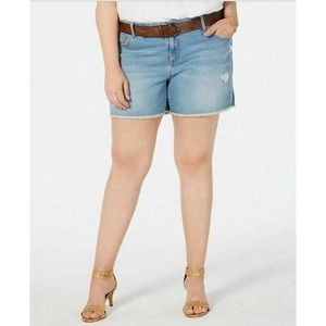 Style & Co Jean Shorts Belted Blue 20W New